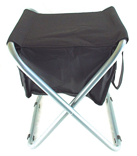Peak Durable Portable Folding Camp Stool with Soft Cooler. Steel Frame holds 250 lbs. (Black) by Peak