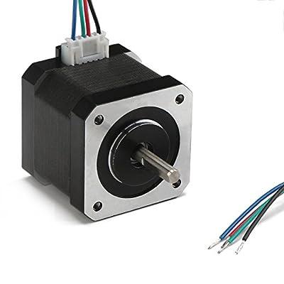 DROK 40mm High Torque Bipolar Stepper Motor Nema 17, 0.46Nm Low Noise 42 DC Step Motor Kit, 1.8°2-Phrase Universal Electric Motor DC motor for 3D Printer Laser Engraving