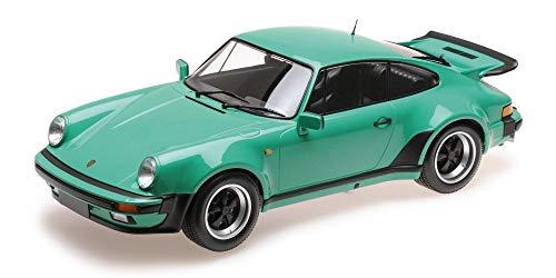 (Minichamps Porsche 911 Turbo, Green 125066118 - 1/12 Scale Diecast Model Toy)