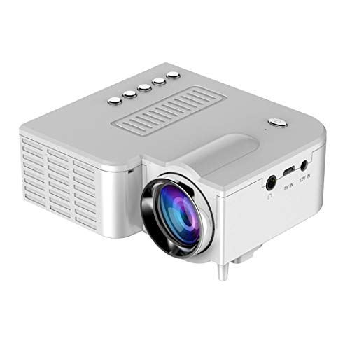 Hiriyt Full HD 1080P and Display Supported, Portable Movie Projector with 40,000 Hrs LED Lamp Life, Compatible with TV Stick, HDMI, TF, and USB ()