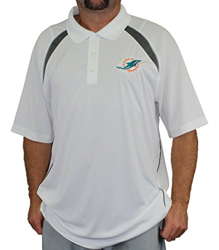 Majestic Miami Dolphins NFL Winners Men's Short Sleeve Polo Shirt - Miami Dolphins Golf Shirt