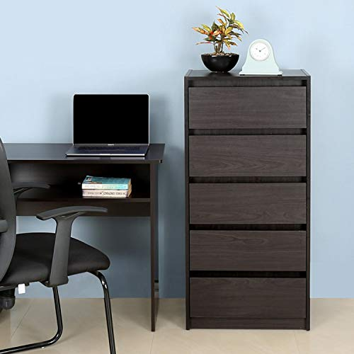 @home by Nilkamal Cohen 5 Chest of Drawers  Brown