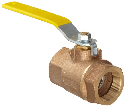 Apollo 70-100 Series Bronze Ball Valve, Two Piece, Inline, Lever, 1-1/2