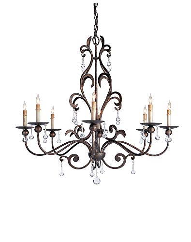 Currey and Company 9380 8 Light Pompeii Chandelier, Cupertino ()