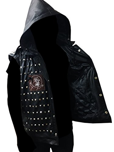 ABz Leathers WD 2 Watch Dogs Dedsec Wrench Jacket Shawn Baichoo Vest Real Leather (M, Black)