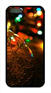 iPhone 5 5S Case Christmas Blur TPU Custom iPhone 5 5S Case Cover Black