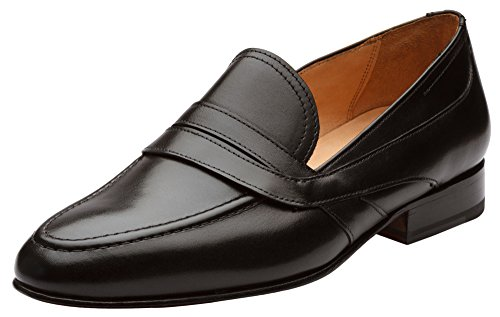Calfskin Leather Loafers - 3DM Lifestyle Men's Penny Slip-On Leather Loafer