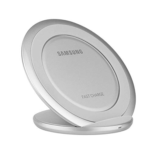 Samsung Fast Charge QI Wireless Charging Stand Adaptive Fast Charging - Silver (Renewed)
