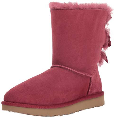 UGG Women's W Bailey Bow II Fashion Boot, Garnet, 6 M -
