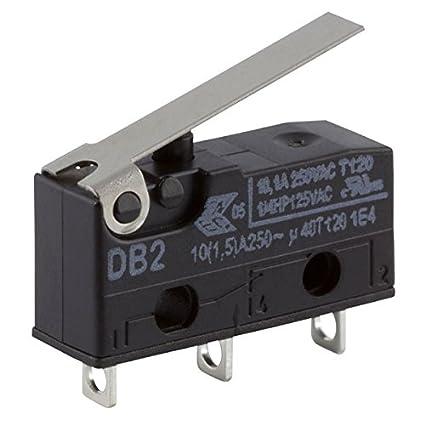 Cherry Miniature Micro Palpeur Interrupteur Commutateur db2g 1 x pour 10 a 250vac 2 X
