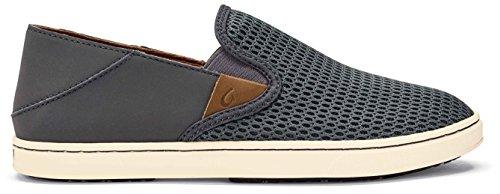 OLUKAI Pehuea Women's Slip On Sneakers (6.5, Pavement/Pavement)