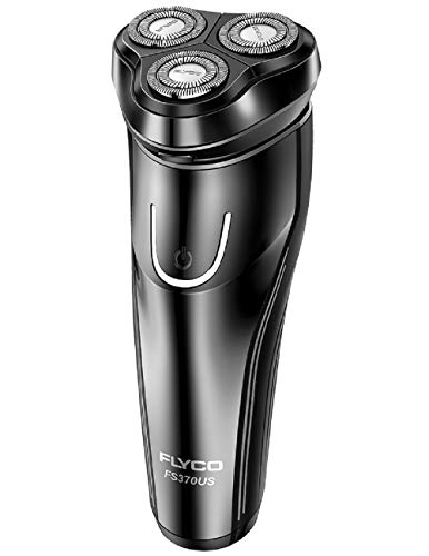 Electric Razor for Men,FLYCO Wet & Dry Mens Razors for Shaving Electric Cordless With Pop-up Trimmer,Rotary Razors Electric Shavers for Men Waterproof Rechargeable -Black (Best Electric Razor For Black Men)
