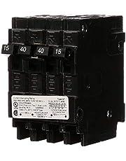 SIEMENS Q21540CT 40 Double (2) 15 Amp Single-Pole Type QT Triplex Circuit Breaker, Black