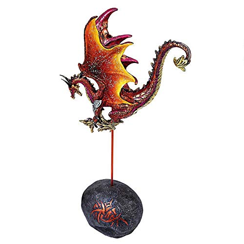 Design Toscano Dragon Minion of Darkness Statue, Fire, Full Color