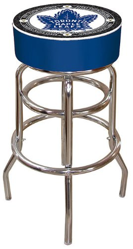 (NHL Toronto Maple Leafs Padded Swivel Bar Stool)