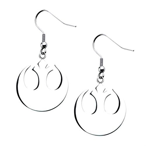 Outlander Star Wars Rebel Silver Earring Dangles In Gift Box