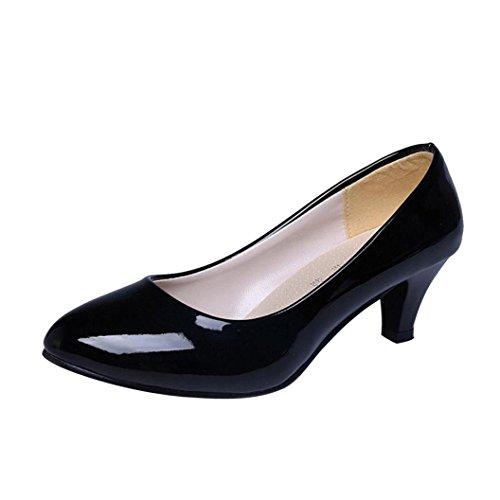 De Platesnu Talons Luckycat Femme Sandales Peu À Élégant Bureaux Travailler Chaussures Été Noir Bas Profonde D'été Amazon Bouche Hauts 2018 8qpXwqz