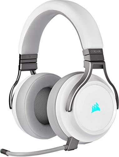 Corsair Virtuoso RGB Wireless SE Auriculares Alta Fidelidad Gaming (Sonido Envolvente 7.1, Micrófono Omnidireccional…