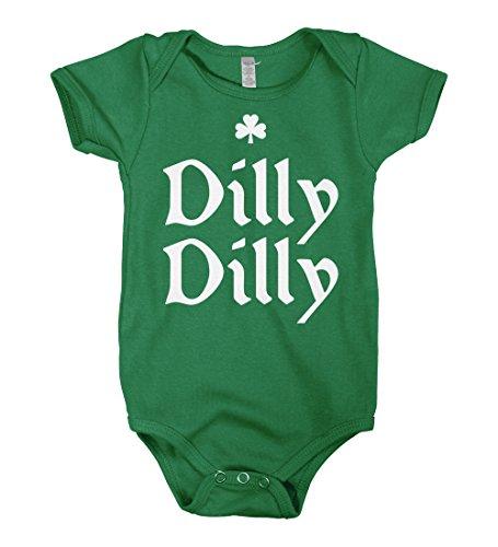 Mixtbrand Baby Dilly Dilly ST. Patrick's Day Infant Bodysuit 6M Kelly -