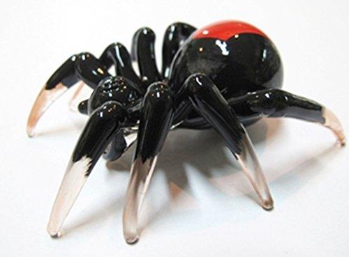 Lampwork COLLECTIBLE MINIATURE HAND BLOWN Art Glass Spider ( by Ayutthaya shop )