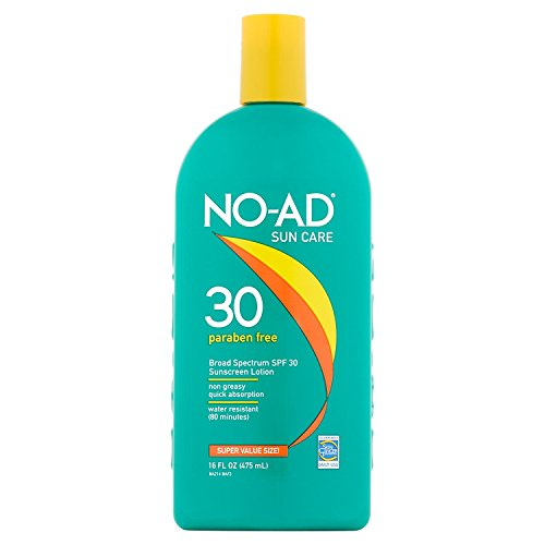 NO-AD Sunscreen Lotion, SPF 30 16 oz Pack of 7
