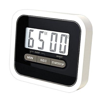 Reloj de cocina temporizador digital LCD con iman para nevera negro