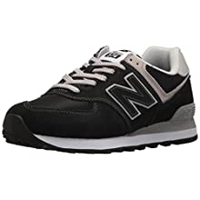 New Balance Women's Iconic 574 Core Sneaker, Black, 7.5 B US