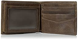 Fossil Men\'s Jack Bifold with Flip ID, Brown, One Size