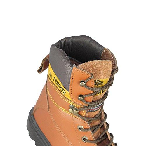 AIMONT - Calzado de protección de Piel para hombre Marrón - marrón