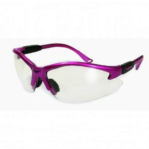 Cougar Safety Glasses - Hot Pink Frame / Clear - Safety Hot Glasses Pink
