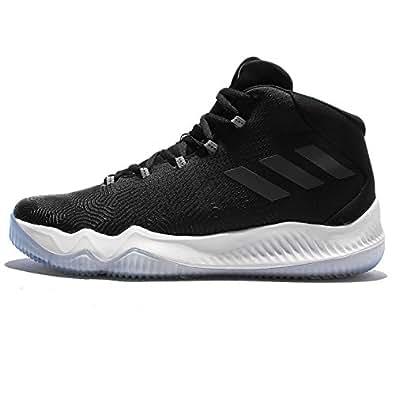 adidas Men's Crazy Hustle, BLACK/SILVER/WHITE, 8 M US