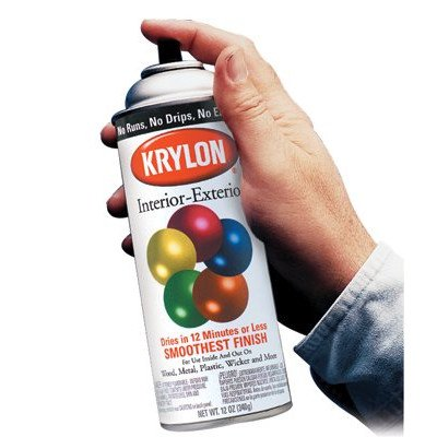 Spray Exterior Paint Interior Krylon (Ultra Flat Black Interior/Exterior Industrial Maintenance Paint [Set of 6])