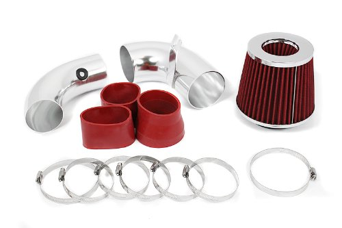 Velocity Concepts 1996-2004 Chevrolet S10 /Blazer PickUp with 4.3L V6 Engine Cold Air Intake + Filter Red
