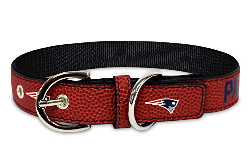 Pets First NFL New England Patriots Premium Dog Collar, Limited Edition, Size Medium. Best & Strongest Heavy-Duty Dog Collar!