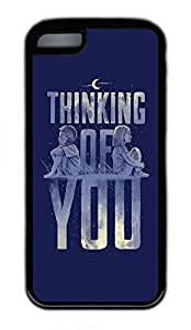 iPhone 5C Cases, Personalized Custom Thinking Of You for iPhone 5C Soft TPU Black Case