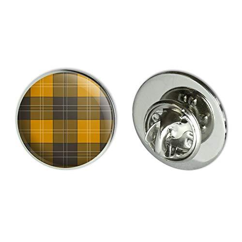 GRAPHICS & MORE Plaid Mustard Yellow Gray Grey Pattern Metal 0.75