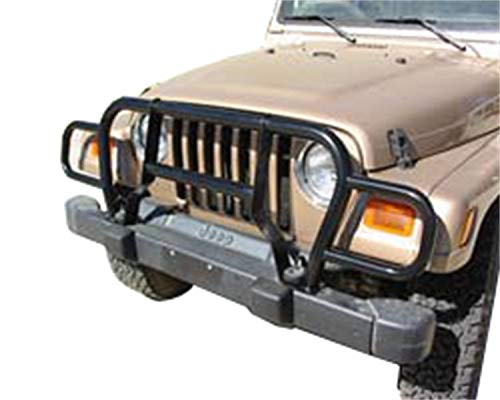 RAMPAGE PRODUCTS 7659 Black Euro Front Grille Guard for 1987-2006 Jeep Wrangler YJ & TJ ()