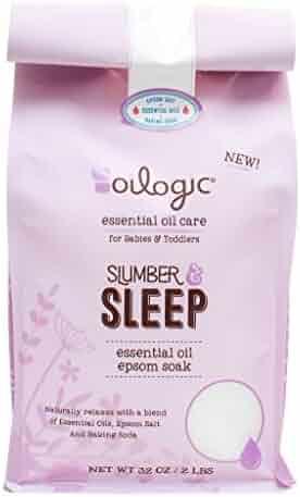 Essential Oil Epsom Salt Slumber & Sleep Blend Soak 2lb./32oz.