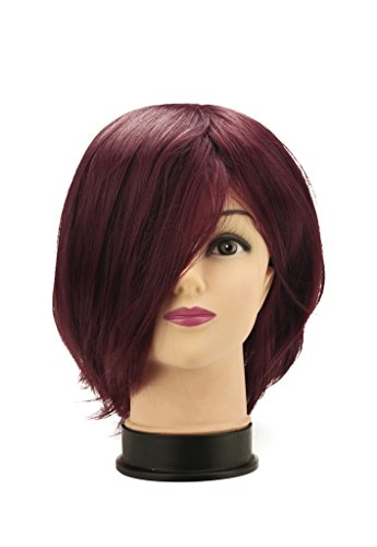 [Mtxc D.Gray-man Cosplay Lavi Wig Dark red] (Lavi D Gray Man Cosplay Costume)
