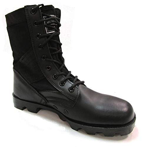 Military Uniform Supply Jungle Boots Black - 12 Regular ()
