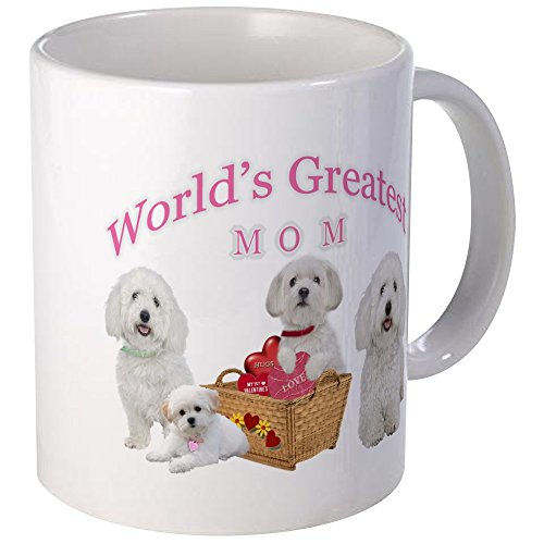 CafePress - Maltese Worlds Greatest Mom Mugs - Unique Coffee Mug, Coffee Cup