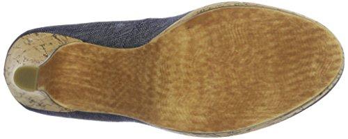 Marco Tozzi 22450, Sandalias con Plataforma para Mujer Azul (Jeans Comb 811)