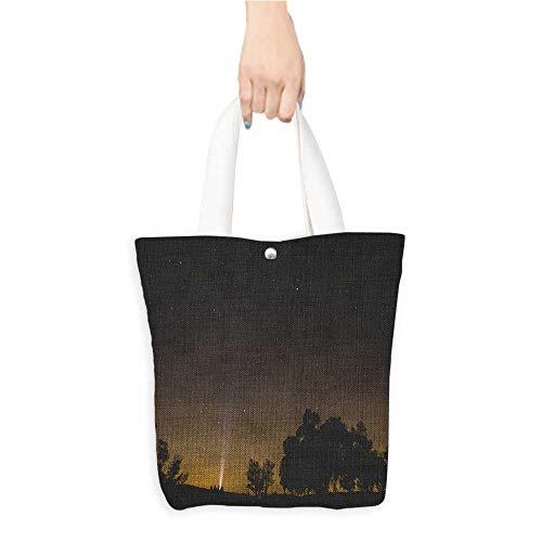 (Portable Shopping Bag a star studded sky (W15.75 x L17.71 Inch))