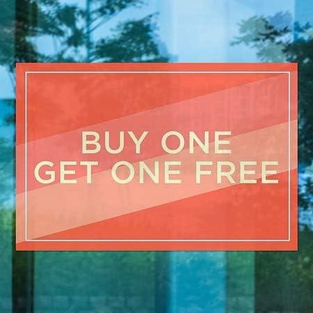 5-Pack 30x20 CGSignLab Buy One Get One Free Modern Diagonal Window Cling