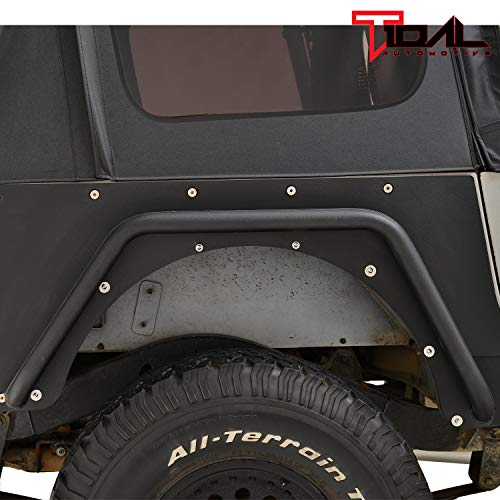 - Tidal Rear Fender Flares Armor Rocker Guards for 87-96 Jeep Wrangler YJ