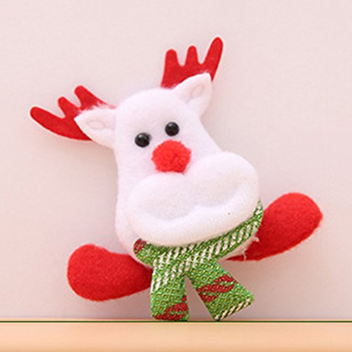 Price comparison product image ZCON LED Santa Snowman Deer Bear Glow Flashing Cartoon Brooch Badge Toy - Elk