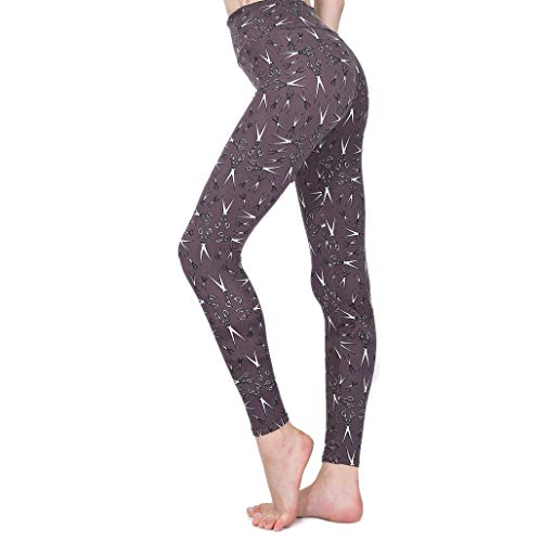 Svogue Vaner Printed Leggings Women's High Waist Yoga Pants Stretch Capris Skinny Pants Tummy Control Leggings (Scissor, L/XL) ()