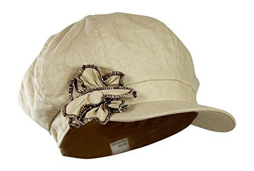 Lightweight Cotton Newsboy Fabric Flower