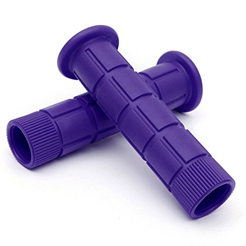 OUTERDO New Handlebar Grips Bicycle MTB BMX Road Mountain Bike Soft Rubber Handlebar End Grips purple