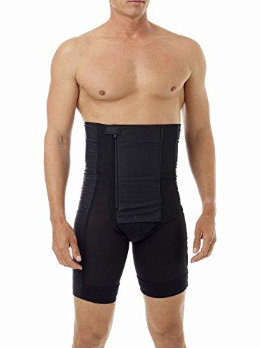 Line Girdle (Underworks Men's Power Shaper Long Leg Brief Girdle, Waistline - 2X 45-48, Black)